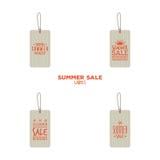 Etiquetas de la venta del verano ilustración del vector