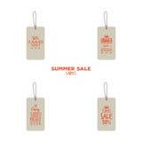 Etiquetas de la venta del verano libre illustration