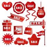 Etiquetas de la venta fijadas Imágenes de archivo libres de regalías