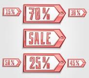 Etiquetas de la venta fijadas Imagen de archivo libre de regalías