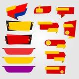 Etiquetas de la venta para el negocio Imágenes de archivo libres de regalías