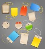 Etiquetas de las compras Imagen de archivo