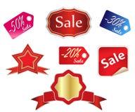 Etiquetas de las ventas Imagen de archivo libre de regalías