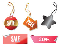 Etiquetas de las ventas Foto de archivo libre de regalías