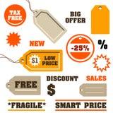 Etiquetas de las ventas Fotos de archivo libres de regalías