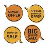 Etiquetas de las ventas Imagen de archivo