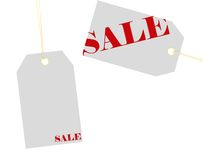 Etiquetas de las ventas con el camino de recortes Foto de archivo