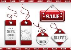 Etiquetas de las ventas de la cartulina Foto de archivo