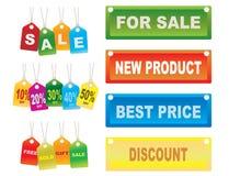 Etiquetas de las ventas de la cartulina Foto de archivo libre de regalías