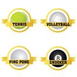 Etiquetas de los deportes Imagen de archivo libre de regalías