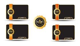 Etiquetas de oro del VIP Fotografía de archivo libre de regalías