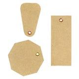 Etiquetas de papel Foto de archivo libre de regalías