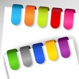 Etiquetas de papel coloridas Fotos de archivo