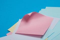 Etiquetas de papel coloridas Imagem de Stock