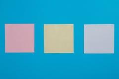 Etiquetas de papel coloridas Fotos de Stock