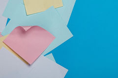 Etiquetas de papel coloridas Fotografia de Stock