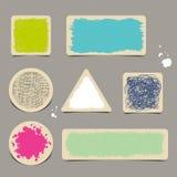 Etiquetas de papel del Grunge Fotografía de archivo