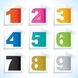 Etiquetas de papel del número Fotos de archivo libres de regalías