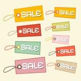 Etiquetas de papel retras de la venta del vector Fotografía de archivo libre de regalías