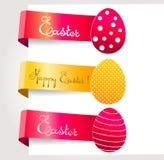 Etiquetas de Pascua Imágenes de archivo libres de regalías