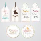 Etiquetas 1 de Pascua Imagen de archivo