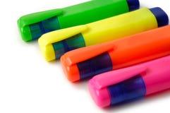 Etiquetas de plástico Imagen de archivo libre de regalías