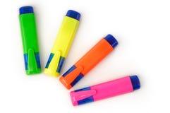 Etiquetas de plástico Imágenes de archivo libres de regalías