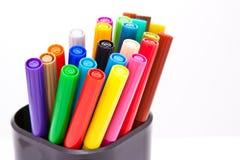 Etiquetas de plástico cerradas coloridas Fotografía de archivo libre de regalías