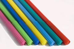 Etiquetas de plástico coloreadas Foto de archivo