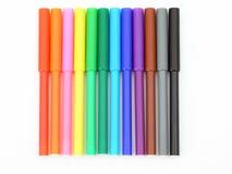 Etiquetas de plástico coloreadas Fotografía de archivo