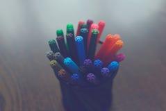 Etiquetas de plástico coloreadas Fotos de archivo