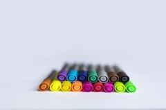 Etiquetas de plástico coloreadas Imágenes de archivo libres de regalías