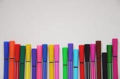 Etiquetas de plástico coloridas Fotografía de archivo libre de regalías