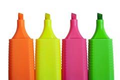 Etiquetas de plástico coloridas. Imagen de archivo libre de regalías