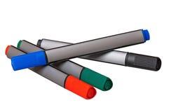 Etiquetas de plástico coloridas Foto de archivo libre de regalías