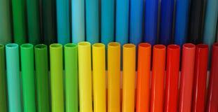 Etiquetas de plástico coloridas Foto de archivo