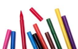 Etiquetas de plástico coloridas Imagen de archivo libre de regalías