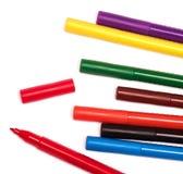 Etiquetas de plástico coloridas Imágenes de archivo libres de regalías