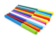 Etiquetas de plástico coloridas Fotos de archivo
