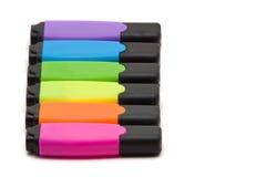Etiquetas de plástico coloridas del texto Fotografía de archivo libre de regalías