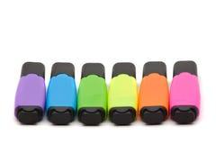 Etiquetas de plástico coloridas del texto Imagen de archivo libre de regalías