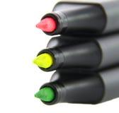 Etiquetas de plástico coloridas del texto del highlighter Imagen de archivo