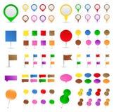 Etiquetas de plástico de la correspondencia Imágenes de archivo libres de regalías