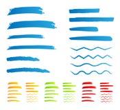 Etiquetas de plástico de la raya stock de ilustración