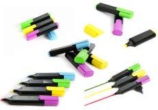 Etiquetas de plástico del color Foto de archivo