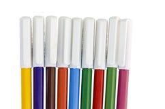 Etiquetas de plástico del color Imagen de archivo