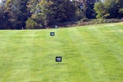 Etiquetas de plástico del golf Fotos de archivo
