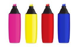 Etiquetas de plástico/Highlighters estupendos de Shiney Imagen de archivo