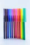 Etiquetas de plástico multi del color Imágenes de archivo libres de regalías
