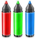 Etiquetas de plástico tricolores Imagen de archivo libre de regalías
